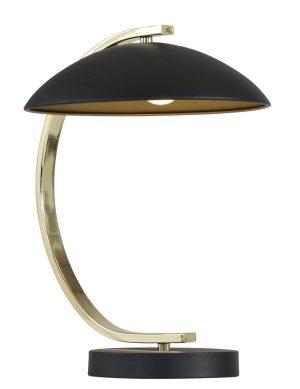 Lampe de table Trio Leuchten Retro noire avec or-1645ZW