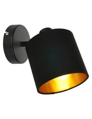 Lampe murale noire avec intérieur doré Reality Tommy-1652ZW