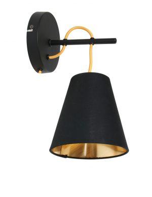Applique bicolore Trio Leuchten Andreus noire et dorée-1655ZW