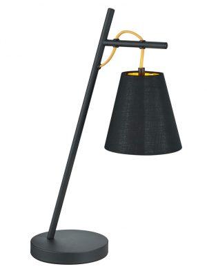 Lampe de table avec abat-jour Trio Leuchten Andreus noir-1656ZW