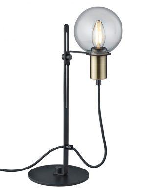 Lampe de table noire et dorée en forme de globe Trio Leuchten Nacho-1658ZW