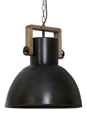 Suspension métal et bois Light & Living Shelly noire-1678ZW