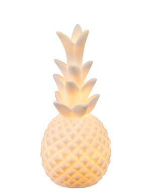 Lampe de table ananas en céramique Globo Chaita blanche-1719W
