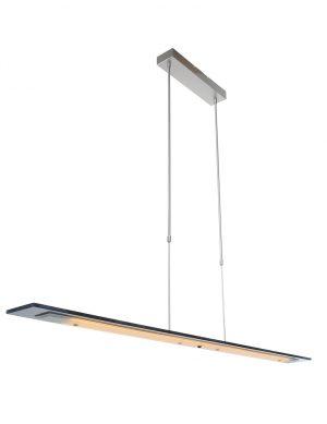 Suspension en verre fumé Steinhauer Plato LED acier-1726ST