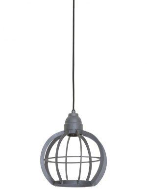 Suspension cage ronde Light & Living Bibi grise-1759GR