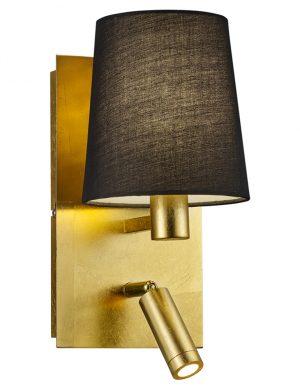 Applique murale dorée avec lampe de lectureTrio Leuchten Marriot-1793ME