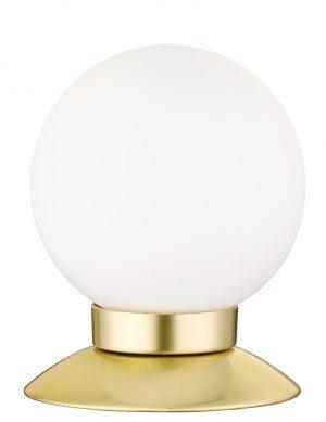 Lampe de table sphérique tactile Reality Princess blanche et dorée-1806ME