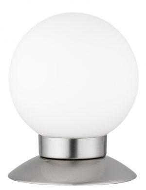 Lampe de table sphérique tactile Reality Princess acier et blanche-1806ST