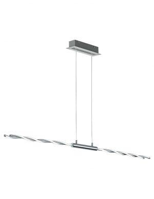 Lampe à suspension moderne et ludique Trio Leuchten Portofino acier-1808CH