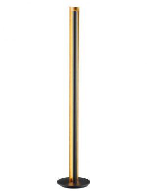 Lampe à poser design Trio Leuchten Texel noire avec intérieur doré-1823ZW