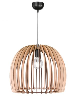 Lampe à suspension cage en bois Reality-1831BE