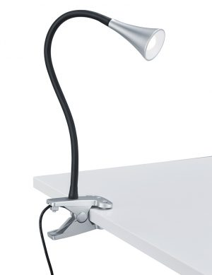 Lampe à poser noire et acier Reality Viper-1837A