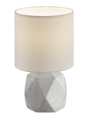 Lampe de table blanche géométrique en béton Reality Pike-1843GR