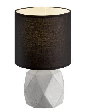 Lampe à poser noire en béton Reality Pike-1844GR