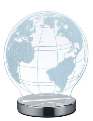 Lampe planisphère transparente Reality Globe-1845CH