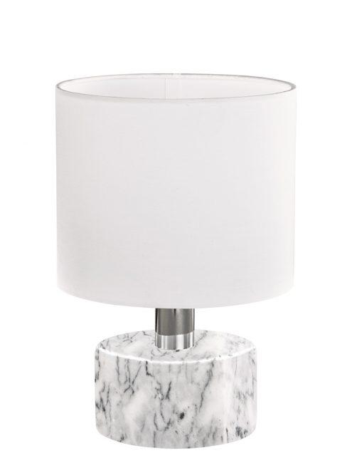 Lampe de table blanche en marbre Trio Leuchten Orlando-1852W