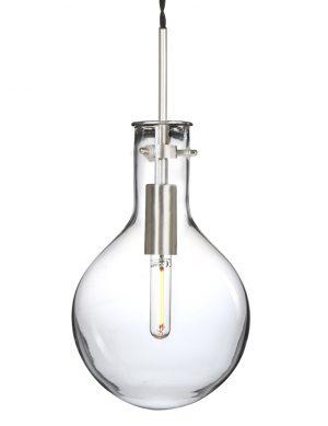 Suspension ampoule en verre Steinhauer Elegance LED acier-1891ST