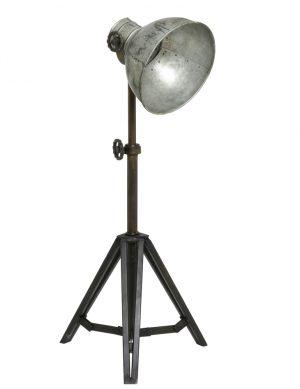 Lampe de table industrielle trépied Light & Living Junko argent-1931ZI