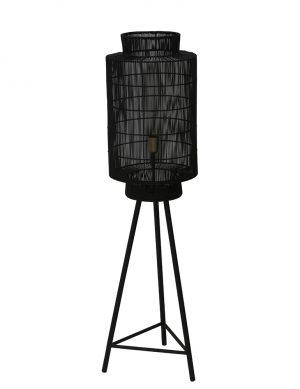 Lampadaire trépied Light & Living Gruaro noir-2091ZW