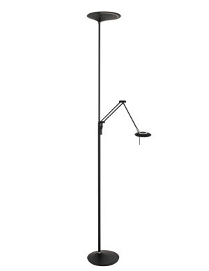 Lampadaire LED avec bras de lecture Steinhauer Zodiac noir-2107ZW