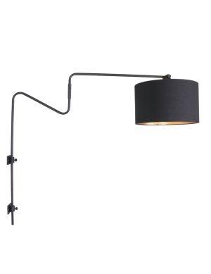 Grande applique avec abat-jour noir et doré Anne Lighting Linstrøm-2131ZW