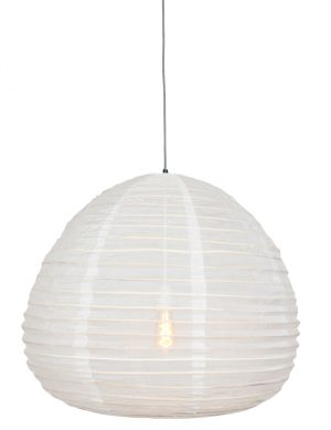 Lampe en tissu Anne Lighting Bangalore blanc-2137W