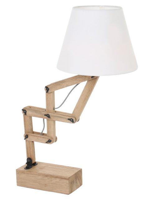 Lampe à poser en bois Mexlite Dion-2425BE
