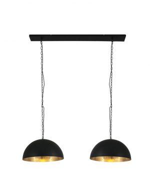 Suspension à deux lumières demi-sphère Steinhauer doré-2556ZW