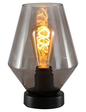 Lampe de table verre fumé Steinhauer Ancilla noir-2557ZW