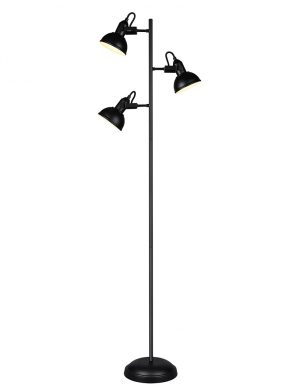 Lampadaire avec trois lampes inclinables Reality Gina noir-2606ZW