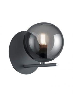 Applique boule en verre fumé Trio Leuchten Pure noir-2639A