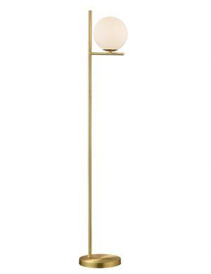Lampadaire étroit en laiton avec boule en verre Trio Leuchten Pure-2642ME