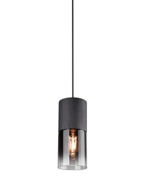 Suspension subtile en verre fumé Trio Leuchten Robin noir-2646ZW