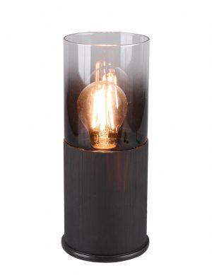 Lampe de table verre fumé Trio Leuchten Robin noir-2649ZW