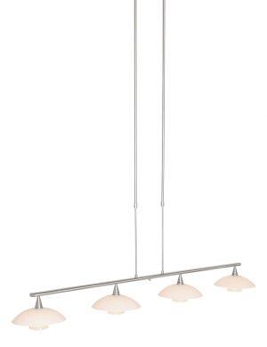 Lampe de table à manger à quatre soucoupes Steinhauer Tallerken acier-2658ST