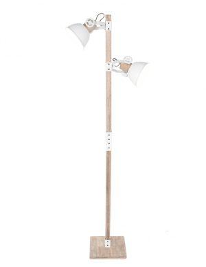 Lampadaire scandinave abat-jour Mexlite Gearwood blanc-2666W
