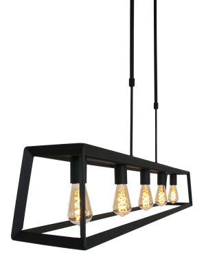 Suspension avec cadre et lampes Buckley Mexlite noir-2675ZW