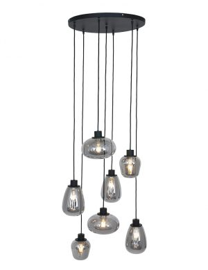 Lampe en verre fumé Steinhauer Reflexion noir-2679ZW
