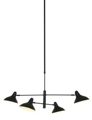 Suspension avec quatre spots disposés en croix Kasket Anne Lighting noir-2694ZW