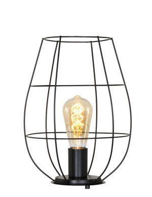 Lampe de table Cage Mexlite Minimalics noir mat-2704ZW