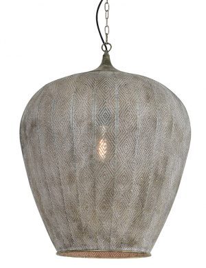 Suspension de style oriental Light & Living Lavello grise-2789GR