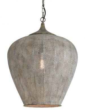 Suspension de style oriental à trous Light & Living Lavello gris-2790GR
