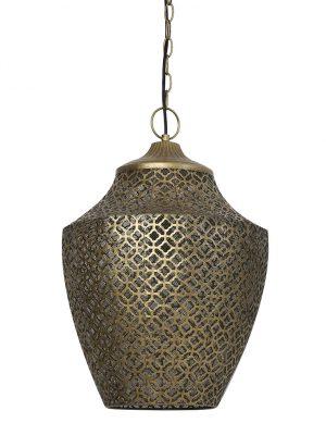Suspension avec motifs broderie Selna Light & Living bronze-2844BR