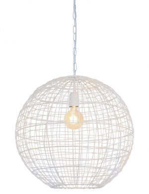 Suspension sphère en fil de fer Mirana Light & Living blanc-2851W