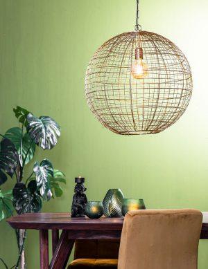 Suspension sphère en fil de fer Mirana Light & Living couleur or-2852GO