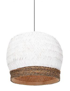 Suspension en rotin tressé Mikki Light & Living blanc-2855W