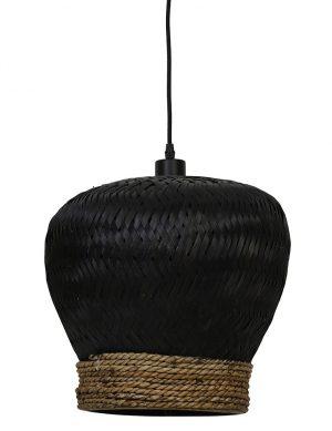 Suspension en rotin tressé Mikki Light & Living noir-2856ZW