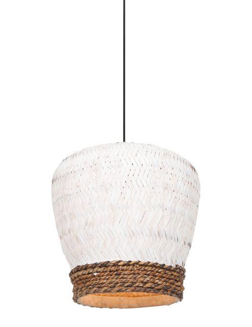 Suspension en rotin bicolore Mikki Light & Living blanc-2858W