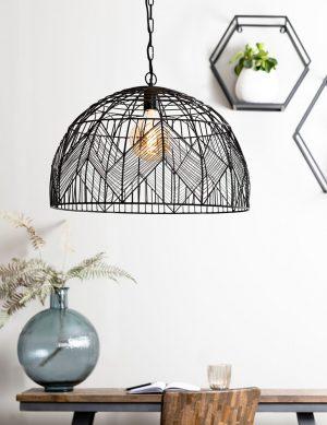 Suspension demi-sphère à motifs Kalibo Light & Living noir-2860ZW