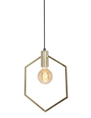 Suspension avec cadre Hexagone Aina Light & Living couleur or-2862GO